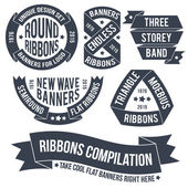 Ribbons and banners for use in emblems — Stock Vector