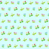 Seamless pattern of wild flowers — Stockvektor