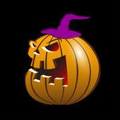 Halloween evil pumpkin smiling — Stock Vector