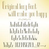 Vintage handmade elongated font — Stock Vector