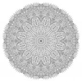 Mandala with a floral pattern of leaves — Stock Vector