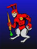 Incredible superhero rabbitman — Stock Vector