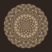 Royal mandala in noble brown shades — Stock Vector