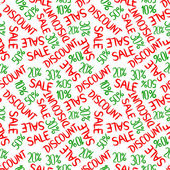 Seamless pattern of sales and discounts. — Stockvektor
