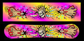 Print on a snowboard. Banner in graffiti style. — Stock Vector