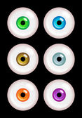 Vector realistic eyes of different colors. — Stock Vector
