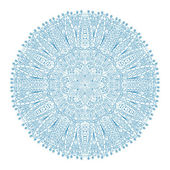 White snowflake  unique hand-drawn — Stock Vector