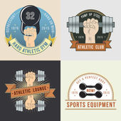 Hand with dumbbells. Logos for sport athletic club. — Stockvektor