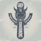Logo snowboarding equipment shop. — Vector de stock