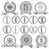 Labels, logos, frames in retro style — Stockvektor