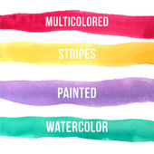 Watercolor stripes of different colors — Stock Vector