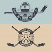 Logos for the hockey team or league — Stock Vector