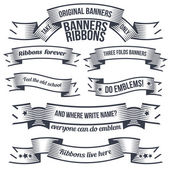 Old school ribbons and banners — Stockvektor