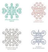 Set van elegante lineart logo 's — Stockvector