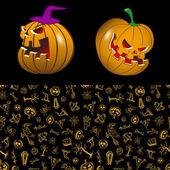 Halloween in cartoon style — Stock Vector