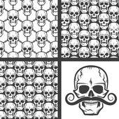 Skull patterns set — Stock Vector
