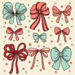 Cute set with bows — Stock Vector #63286551