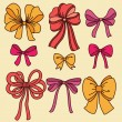 Set with bows — Stock Vector #63286609