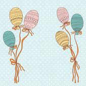 Renkli uçan balonlar — Stok Vektör