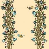 старинный цветочный баннер — Cтоковый вектор
