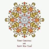 Christmas decoration snowflake — Stock Vector