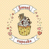 Sweet  cupcake collection — Stock Vector