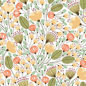 Pattern with yellow flowers — Stock Vector