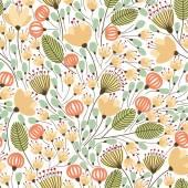 Patroon met gele bloemen — Stockvector