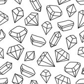 Seamless pattern with shining gems — Stock Vector