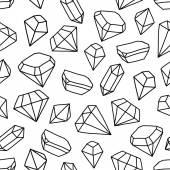 Modèle sans couture avec brillante des pierres précieuses — Vecteur