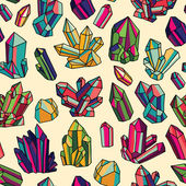 Wzór z kryształami — Wektor stockowy