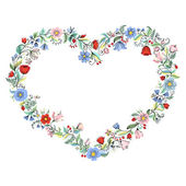 Illustration with flowers heart. — Stock Vector