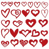 Set with hearts. — Stock Vector