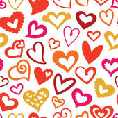 Valentine's Day  pattern of Hearts — Stock Vector