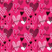 Hearts seamless pattern — Stock Vector