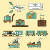 Travel icon symbol — Stock Vector
