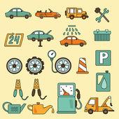Car repair service icons — Stock Vector