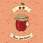 Illustration with jam — Stockvektor