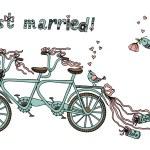 Retro tandem bicycle. — Stock Vector #63324577