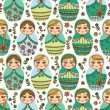 Pattern with Russian doll — Stock Vector #63324655