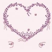 Heart illustration of lavender — Stock vektor