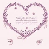 Heart illustration of lavender — Stock Vector