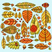 Seamless pattern with leafs. — Stock Vector