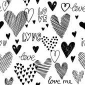 Motif de coeurs sans soudure — Vecteur