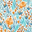 Seamless pattern with summer flowers — Stock Vector #67684597
