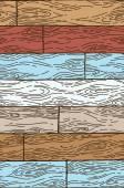 木製のシームレスなパターン — ストックベクタ
