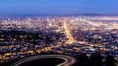 Aerial view of San Francisco Cityscape — Stok fotoğraf