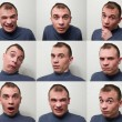 Man expressing different emotions — Stock Photo #63916271