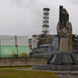 Постер, плакат: A panoramic view of the fourth reactor of the Chernobyl nuclear power station
