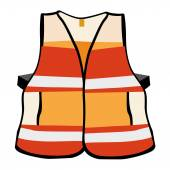Illustration representing a reflective vest safety equipment — Stock Vector